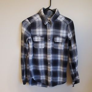 Grey White and Black Flannel